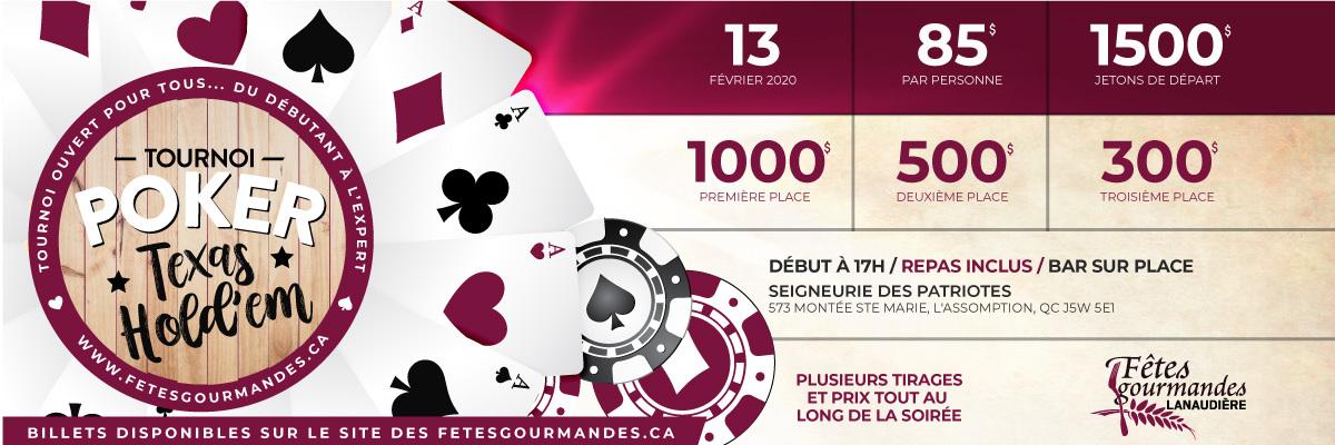 Tournoi de poker des Fêtes Gourmandes de Lanaudière
